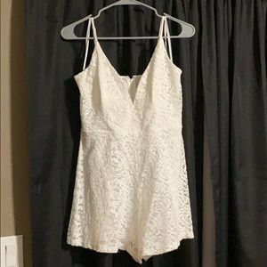 Windsor white romper. Size large. Worn once